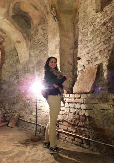 Francesca nella Cripta di San Giovanni Domnarum