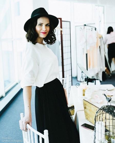 La lingerie stylist Julia Stefanello