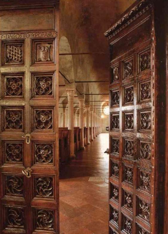 Porta in legno della Biblioteca Malatestiana, 1454
