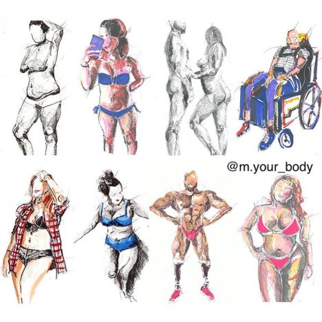 Corpi disegnati da M Your Body