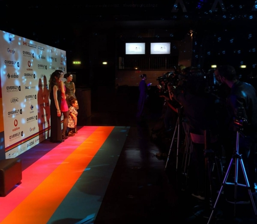 Il Rainbow Carpet dei Diversity Media Awards