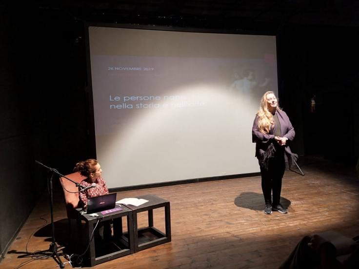 Nanabianca e Isabella Caserta alla conferenza del Festiva Non c'è Differenza