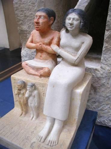 Seneb con la moglie e i figli, Il Cairo, Museo Egizio