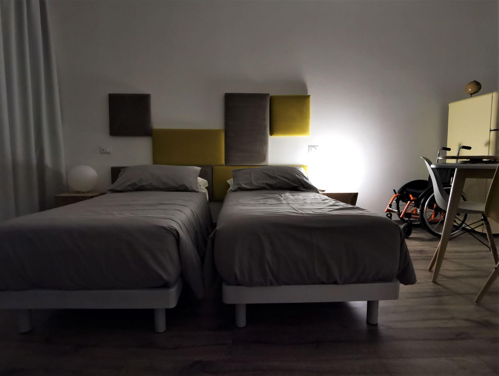 La camera del Monolocale accessibile del Residence Trieste